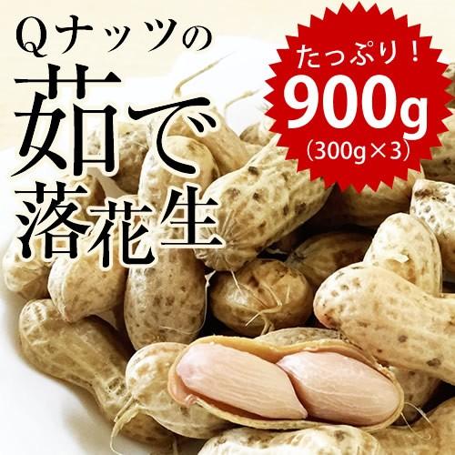 新豆 2020年産 【Qナッツ】 千葉県産 Qなっつ ゆで落花生900g(300g×3袋)