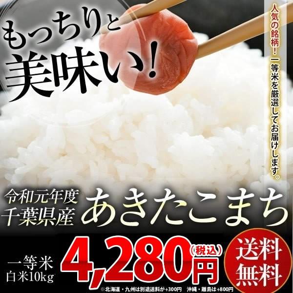 米 お米 送料無料 令和元年 千葉県産 あきたこまち 白米 10kg ※一部地域へのお届けは別途送料が発生