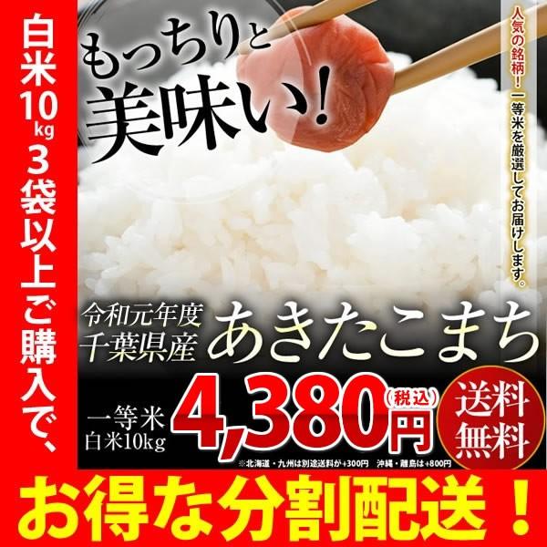 米 お米 送料無料 令和元年 新米 千葉県産 あきたこまち 白米 10kg ※一部地域へのお届けは別途送料が発生
