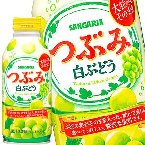 サンガリア つぶみ白ぶどう 380gボトル缶×24本[賞味期限:4ヶ月以上]【5〜8営業日以内に出荷】
