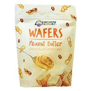 ジュリーズ キューブウエハース ピーナッツバター 60g×24袋[12袋×2箱][賞味期限:4ヶ月以上][送料無料]【12月4日出荷開始】