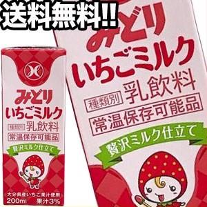 九州乳業 みどり いちごミルク 200ml紙パック×48本 [賞味期限:製造から90日] [送料無料] 【4〜5営業日以内に出荷】