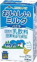 【生乳たっぷり】LLおいしいミルク〜バニラ味 常温保存可能品 250ml×24本 熊本の大自然の恵みを直送!