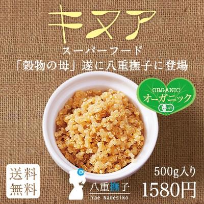 スーパーフード登場!キヌア(オーガニック)500gが送料無料で1580円!ご飯に少しでお腹いっぱい!【キヌア/きぬあ】