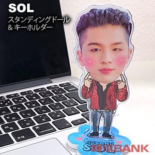 【送料無料・速達・代引不可】 テヤン (SOL) BIGBANG (ビッグバン) スタンディングドール + キーホルダー (Standing Doll + Key Holder)