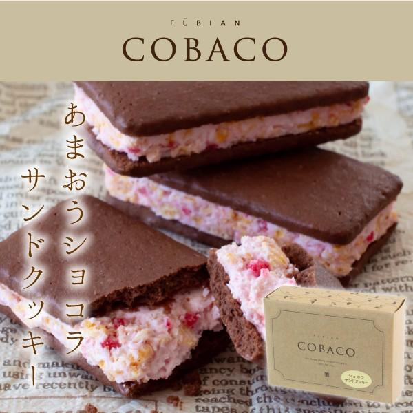 COBACO|あまおうショコラサンドクッキー2個 <ぷちギフト>(宅急便発送) Pgift