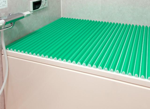 東プレ カラーウェーブ風呂ふた L12 グリーン 75×120cm用風呂ふた