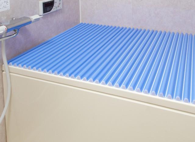 東プレ カラーウェーブ風呂ふた L12 ブルー 75×120cm用風呂ふた