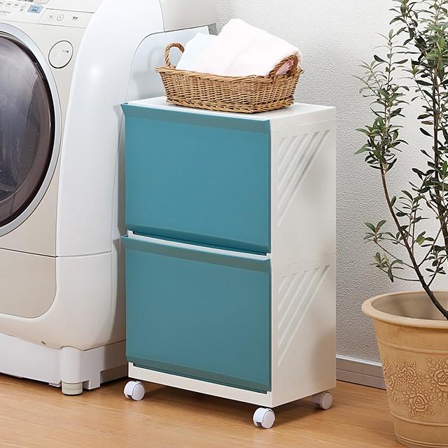 洗濯カゴ ランドリーラック バスケット ボックス 洗濯物入れ 2段