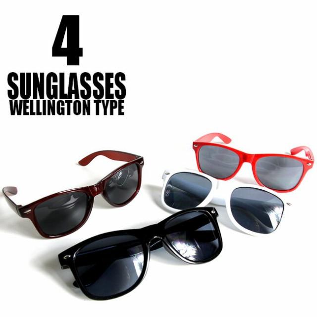ストリート系 ウェリントン型サングラス 4カラー ダンス衣装 ヒップホップ 丸メガネ グラサン メンズ 小物 伊達めがね 眼鏡