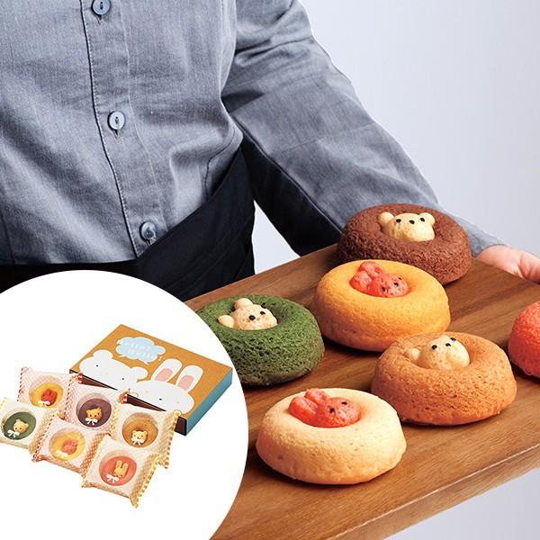 送料無料 カリーノ アニマルドーナツ 6個 / スイーツ 洋菓子 かわいい くま うさぎ お取り寄せ グルメ 食品 ギフト お歳暮 御歳暮