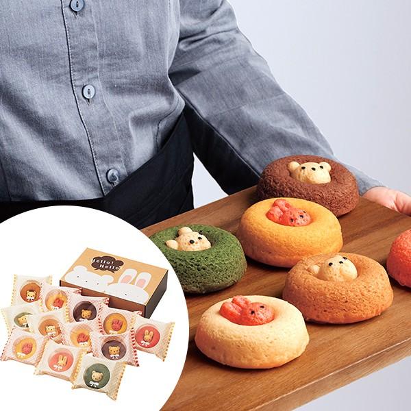 送料無料 カリーノ アニマルドーナツ 12個 / スイーツ 洋菓子 かわいい くま うさぎ お取り寄せ グルメ 食品 ギフト お歳暮 御歳暮