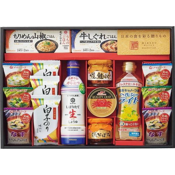 お中元 特価 味香門和膳(みかどわぜん) アマノフーズ&キッコーマン和食詰合せ MKD-50 [ フリーズドライ 味噌汁 醤油 油・オイル 焼海