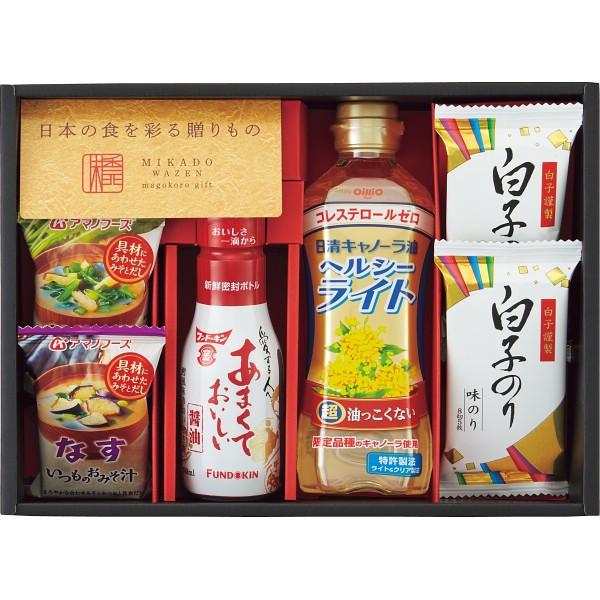 お中元 特価 味香門和膳(みかどわぜん) 九州版 MKD-15K [ フリーズドライ 味噌汁 しょうゆ 油・オイル 焼海苔 詰合せ ギフト セット ]