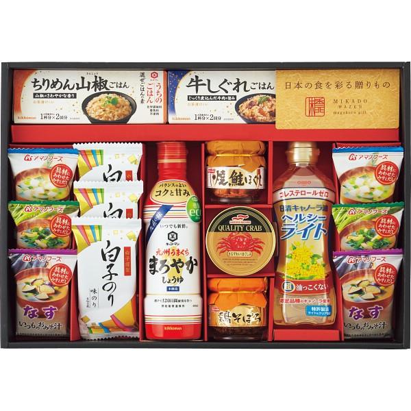 お中元 特価 味香門和膳(みかどわぜん) 九州版 MKD-50K [ フリーズドライ 味噌汁 醤油 油・オイル 焼海苔 詰合せ ギフト セット ] C__2