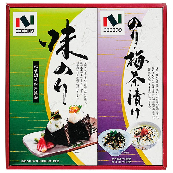 [47%OFF] ニコニコのり 海苔・茶漬詰合せ NA-A [海苔 のり お茶漬け 詰合せ ギフト セット]__tri-S164-010