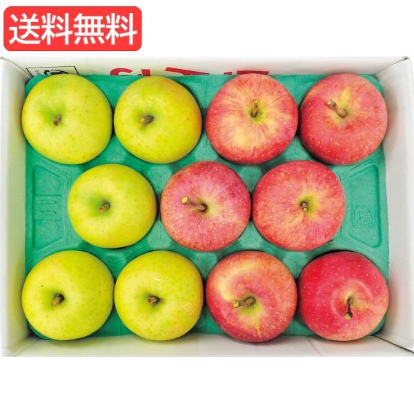 お歳暮 送料無料 青森県産 サンふじ&王林(3kg) 旬のフルーツギフト 人気 おすすめ [ 産直 りんご 林檎 フルーツ 果物 詰合せ ギ