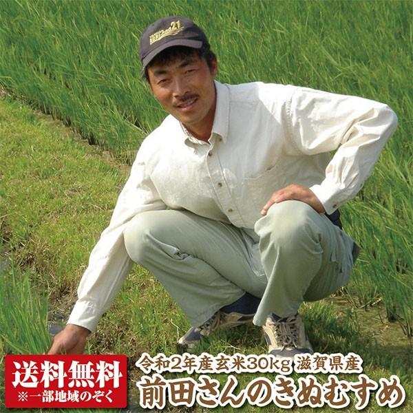【新米】【送料無料】【令和2年産】前田さんのきぬむすめ玄米30kg【精米料無料】