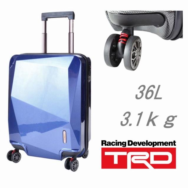 8d63e3af33 【送料無料】TRD キャリーカート ABS樹脂 TSA金具 機内持ち込み可能 2~3泊の旅行用にベストサイズです。  艶のあるボディですが傷つきにくいABS樹脂が施されています。