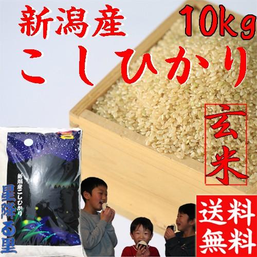 【送料無料】新米【コシヒカリ 玄米】【コシヒカリ 10kg】 新潟産コシヒカリ 新米 玄米 令和2年 2020年 こしひかり10kg 玄米10kg