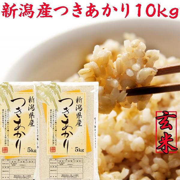 【新米 玄米 10kg】新潟県産 つきあかり 玄米 10kg(5キロ×2袋)《新米 令和元年 玄米 2019年 新潟県産玄米 お米 玄米5kg 安い 10キロ