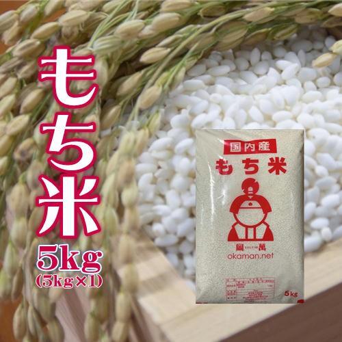 もち米 5kg (5kg×1袋) 岡山県産 複数原料米 送料無料 北海道・沖縄は770円の加算が必要です。
