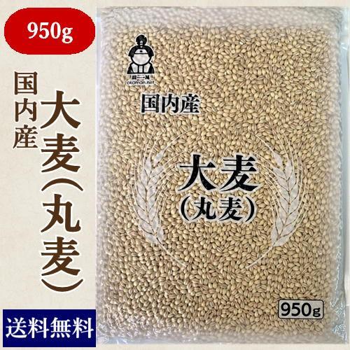 国内産 大麦(丸麦) 950g チャック付 送料無料 お試し