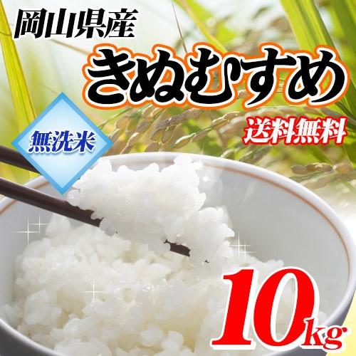 米 お米 無洗米 岡山県産 きぬむすめ 10kg (5kg×2袋) 令和元年産 送料無料 北海道・沖縄は770円の送料がかかります。