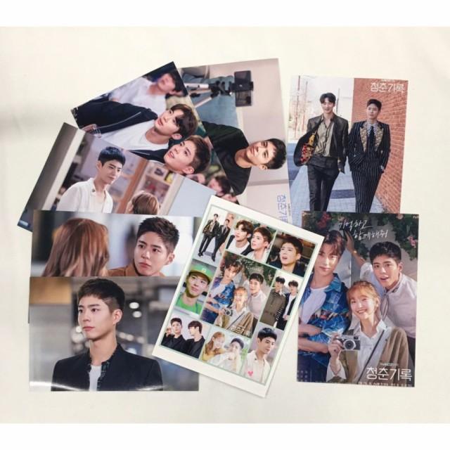 パクボゴム PAEKBOGUM 青春の記録 ポストカードセット シール付き 韓流 グッズ ar015-6