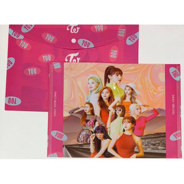 TWICE トゥワイス 蓋付き クリアケース クリアファイル A4 韓流 アイドル グッズ 韓国 雑貨 fb015-1