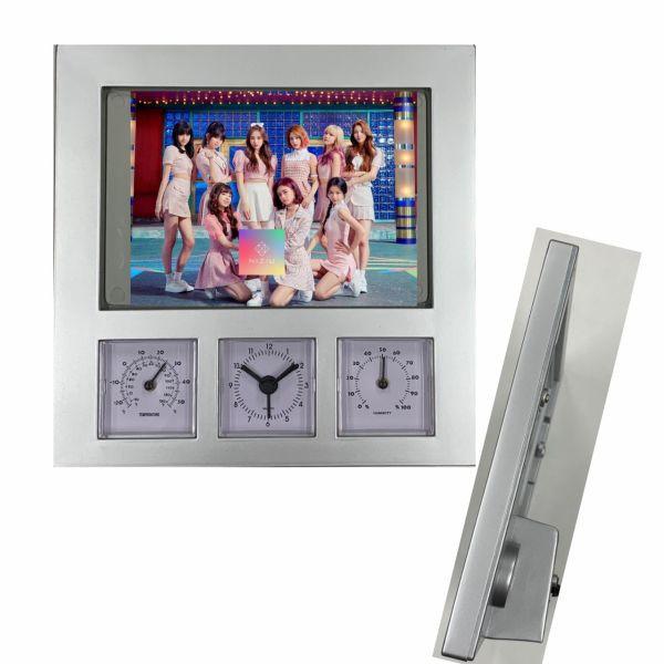 NiziU ニジュー 写真入れ替え 置き時計 時計 アラーム 温度 湿度 フォトフレーム 韓流 グッズ pe014-1