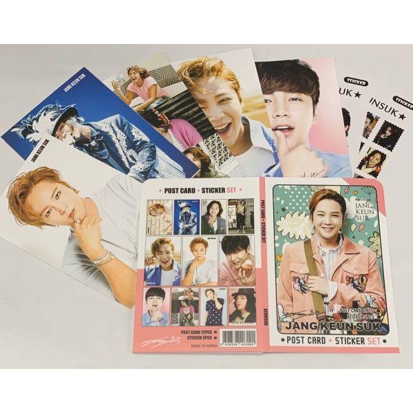 チャングンソク ポストカード& ステッカーセット JANG KEUNSUK 韓流 グッズ th007-1