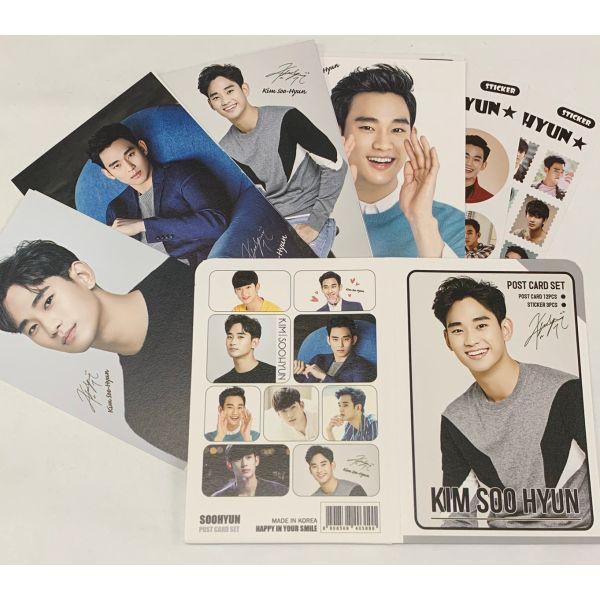 キムスヒョン ポストカード& ステッカーセット KIM SOOHYUN 韓流 グッズ th011-1