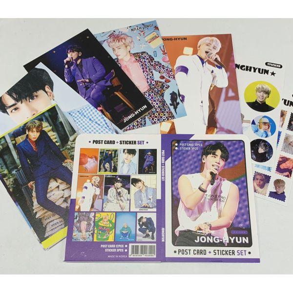 ジョンヒョン SHINee シャイニー ポストカード& ステッカーセット 韓流 グッズ th023-3