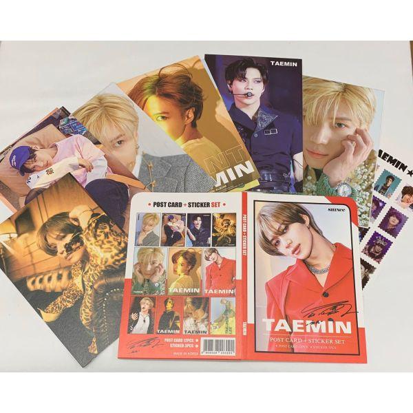 TAEMIN テミン SHINee シャイニー ポストカード& ステッカーセット 韓流 グッズ th023-6