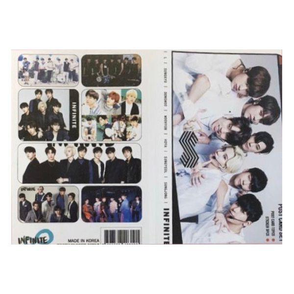 INFINITE インフィニット ポストカード& ステッカーセット 韓流 グッズ th028-0