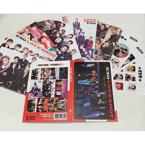 EXO エクソ ポストカード& ステッカーセット 韓流 グッズ th040-0