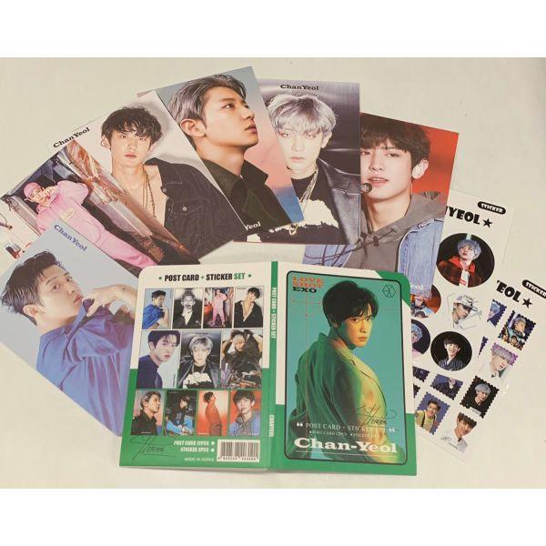 EXO チャニョル ポストカード& ステッカーセット 韓流 グッズ th040-3