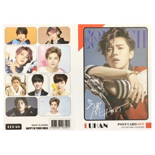ルハン ポストカード& ステッカーセット 韓流 グッズ th040-9