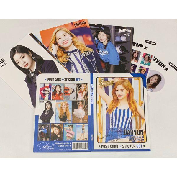 TWICE ダヒョン ポストカード& ステッカーセット 韓流 グッズ th044-6
