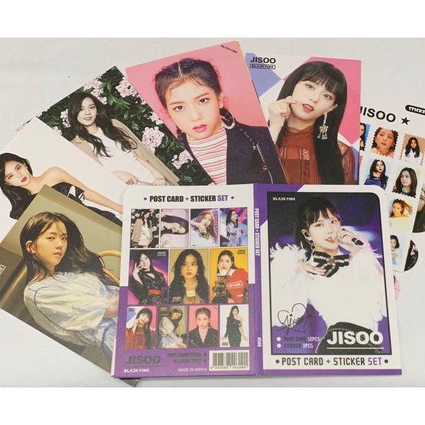 JISOO ジス BLACKPINK ブラックピンク ポストカード& ステッカーセット 韓流 グッズ th045-1
