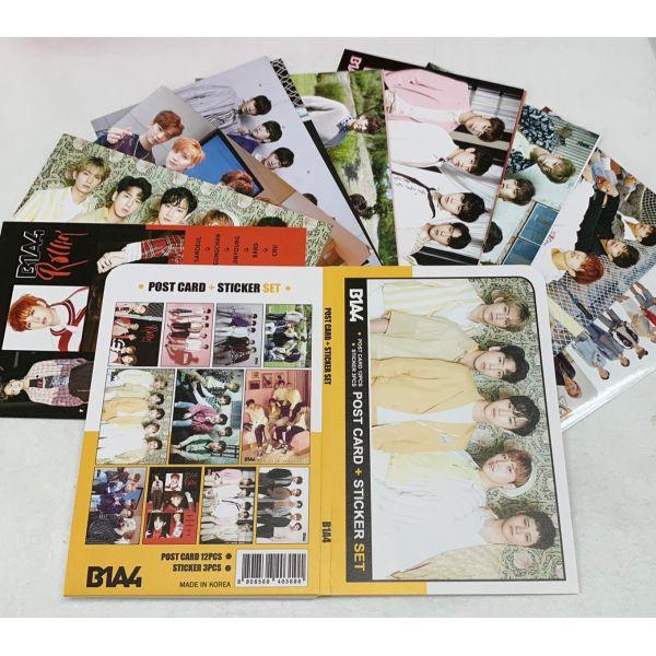 B1A4 ポストカード& ステッカーセット 韓流 グッズ th048-0