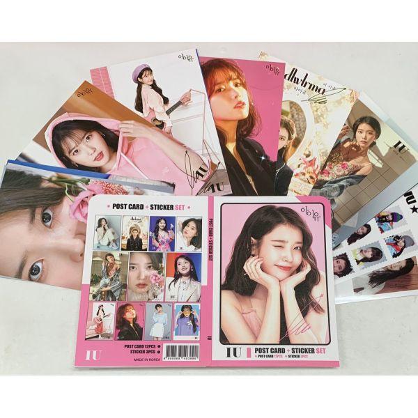 IU アイユ ポストカード& ステッカーセット 韓流 グッズ th049-1