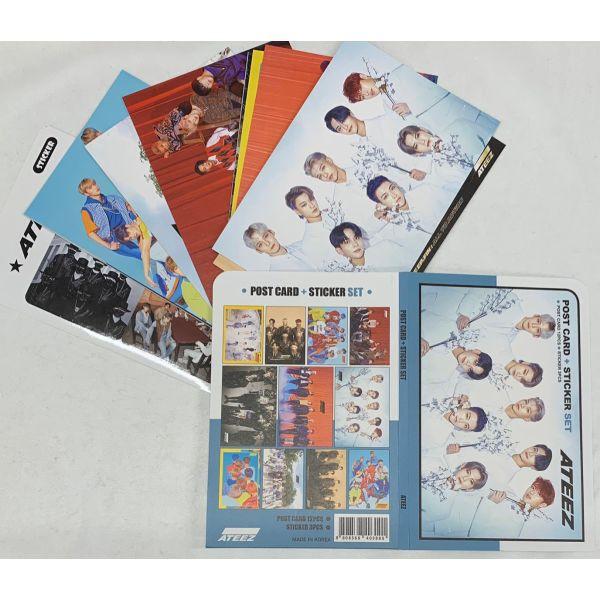 ATEEZ ポストカード ステッカーセット ハガキ 韓流 グッズ th055-1