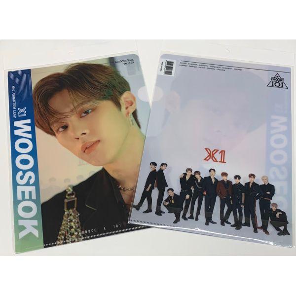 キムウソク X1 PRODUCE101 A4 クリアファイル 韓流 グッズ tk122-1