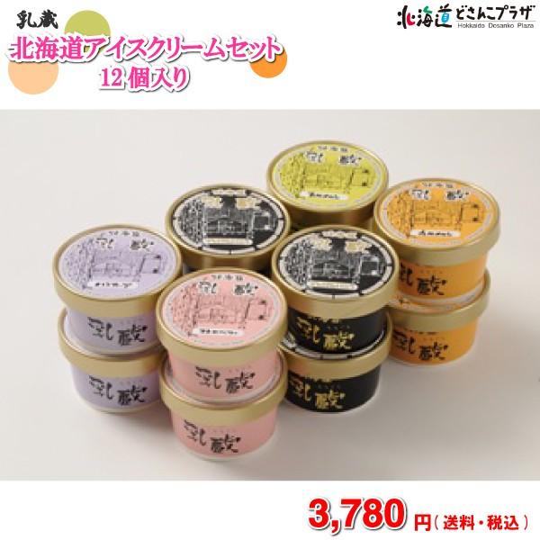 【メーカー直送】「乳蔵 北海道アイスクリームセット 12ヶ入」 送料無料 送料込 ※他の商品との同梱不可