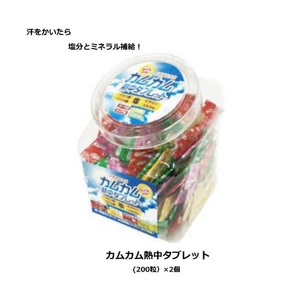 【2個販売】カムカム熱中タブレット 賞味期限2年 (約200粒入り) まとめ買い 熱中飴 タブレット カムカム4味
