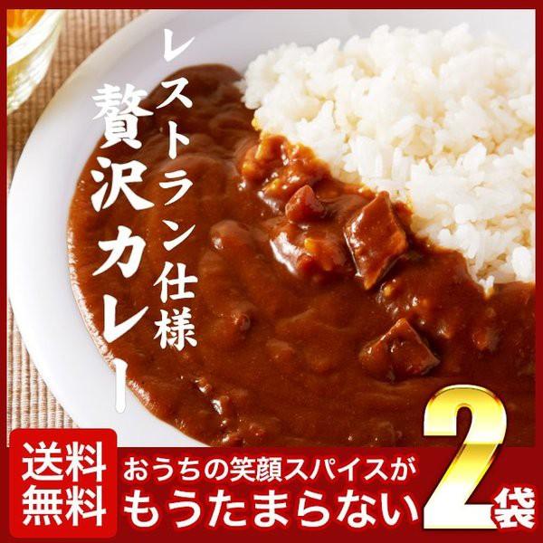 送料無料 レストラン カレー 2食 (200g×2) レトルト 食品 時短 時間短縮 セット ご希望の発送日をお選びください