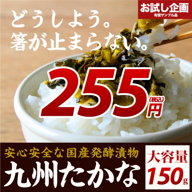 送料無料 九州高菜 1袋150g ご飯のお供 ポイント消化 食品 お試し ポイントで購入できる商品 ポイント消費 わけあり ギフト お取り寄せ