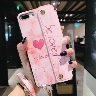 【iPhone 7/8/ピンク】iPhoneケース 多機能スマホケース スマホカバー ピンク ハート 定期入れ カード入れ お札入れ 傷防止 バックカバ